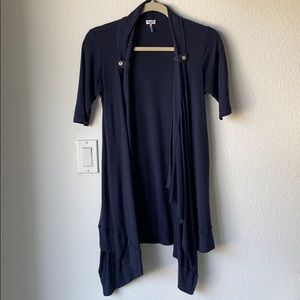 Splendid open front navy short sleeve cardigan XS